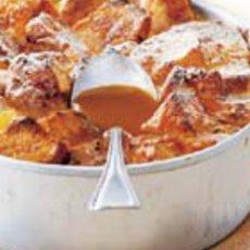 Bread & Butterpudding met whiskey-marmelade & butterscotch-saus