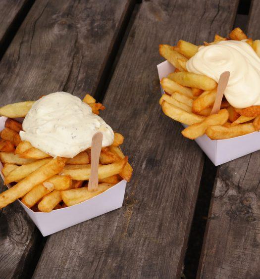 Vlaamse friet bakken