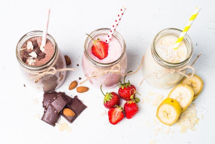 Shake met kokos en aardbeien