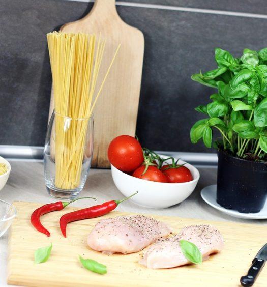 spaghetti kip en paprika