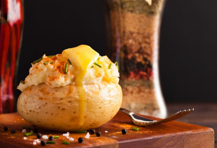 Gepofte aardappelen