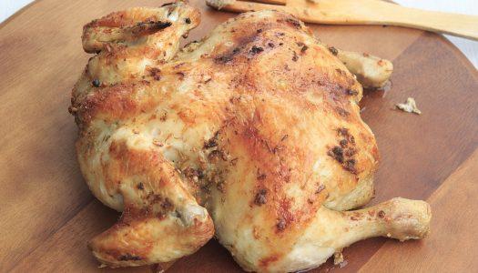 Hoe moet ik hele kip braden