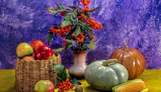Appel walnoten kerstkrans