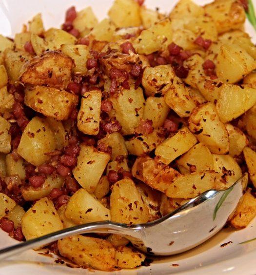 aardappel met bacon