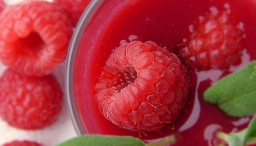 Zomerse smoothie met frambozen