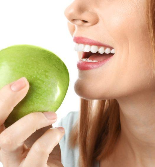 Witte tanden eten